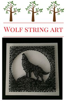 A personal favorite from my Etsy shop https://www.etsy.com/listing/458961758/string-art-wolf-sign-howling-wolf