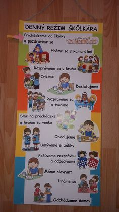 Režim škôlkarov Educational Activities, Preschool Activities, Classroom Decor, Kids And Parenting, Montessori, Diy And Crafts, Kindergarten, Homeschool, Children