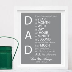 Gift for Dad, custom art print Fathers Day Art, Fathers Day Crafts, Cute Gifts, Diy Gifts, Holiday Fun, Holiday Gifts, Diy For Kids, Crafts For Kids, Gift Baskets For Men