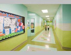 Paint colors for classrooms school ideas school hallways, classroom walls, hallway School Hallways, School Murals, Classroom Walls, Preschool Classroom, Classroom Decor, Best Wall Paint, Hallway Paint, Sunday School Rooms, Hallway Colours