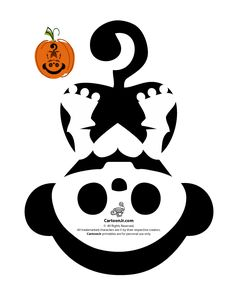 Skelanimals Pumpkin Templates Skelanimals Monkey Pumpkin – Cartoon Jr.