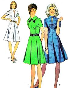 1970s Dress Pattern Simplicity 5181 Pleated Skirt by paneenjerez