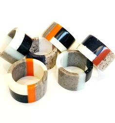 Corian® and HI-Macs® band ring NEW LINE Handmade Macs, Corian, Band Rings, Napkin Rings, Objects, Handmade, Crafts, Color, Design