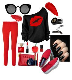 """""""sexy"""" by audhayfi on Polyvore featuring Kate Spade, Tony Moly, Michael Kors, Lipstick Queen, Estée Lauder, Urban Decay, Gucci, MAC Cosmetics, NARS Cosmetics and Keds"""