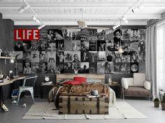 Fotomural Life C64P LIFE 001 Nuevo concepto de fotomurales, los murales Creative collage de 1 wall se componen de un total de 64 piezas que puedes colocar aleatoriamente y de esa forma personalizar la pared a tu gusto, también puedes elegir colocarlas de forma ordenada, o bien separadas incluso realizando formas abstractas, una nueva forma de decorar las paredes