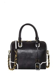 What: alice and olivia, black bag.  Credit Handout