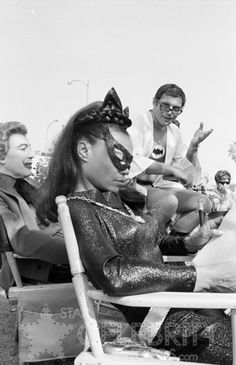 BATMAN circa 1966 Cesar Romero Eartha Kitt Adam West