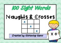 This sight word game packet consists of 10 naughts and crosses games.  Each game is in level of ability. Game 1 being the easiest level and game 10 being their hardest. The games are available in colour or black and white. Simply print off and laminate to use in class.