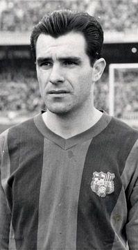 Evaristo de Macedo, born 22 June 1933, Brazilian forward, FC Barcelona (1957-1962) No. 10