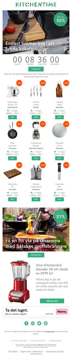 Countdown Timer in email from Kitchen Time #EmailMarketing #Email #Marketing #CountdownTimer #Home #Retail