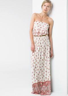 Langes Bandeau-Kleid