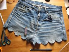 DIY scallop shorts!