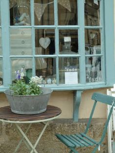 Tea shop - use this for the outdoor space, paint every chair a different pastel colour.