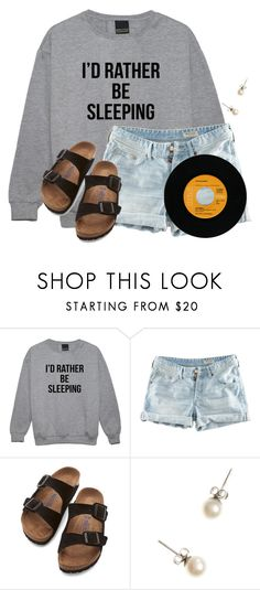 """""""~Literally me on Mondays~"""" by flroasburn ❤ liked on Polyvore featuring H&M, Birkenstock and J.Crew"""