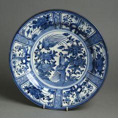 Un 17 de Kraakware Porcelana cargador japonesa del siglo