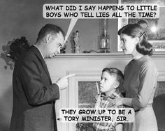 How to grow up to be a Tory minister. Funny Political Memes, Silly Jokes, Vintage Humor, Boys Who, Little Boys, Growing Up, The Voice, Politics, Shit Happens