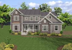 A quaint front porch welcomes you to this spacious and carefully designed two story home with 5 bedrooms and 5 baths.