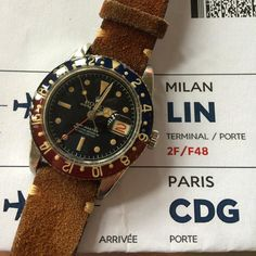 """""""Ready to see Milano ☁️⚽️✈️ #Rolex #GMT #pepsi #pepsibezel #6542 #blackdial"""""""