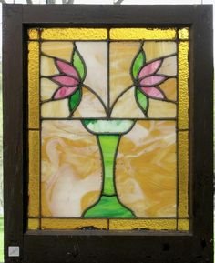"""Sharing is caring!  G11075 - Antique Arts & Crafts Style Window - 20"""" x 25"""""""