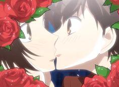 Haruhi and Kanako Kiss