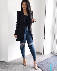 29 magnifiques looks pour femme tendance printemps 2019 - Classy Outfits, Chic Outfits, Trendy Outfits, Fashion Outfits, Hijab Fashion, Denim Fashion, Look Fashion, Trendy Fashion, Business Casual Jeans