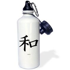 3dRose Japanese Sign For Peace, Sports Water Bottle, 21oz