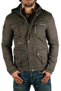 REMETEE by Affliction Rebound Mens Motorcycle Hoodie Hooded Quilted Jacket Coat