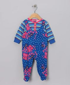 Take a look at this Blue La Paz Footie - Infant by Sweet Potatoes & S.P.UDZ on #zulily today!