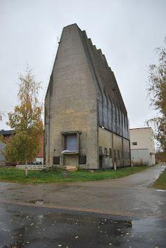 Silo, cellulose factory Oulu, Finland 1931 Alvar Aalto Alvar Aalto, Space Architecture, Industrial, Helsinki, Concept Art, Concrete, Home And Garden, Building, Places