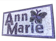 personalized name mosaic