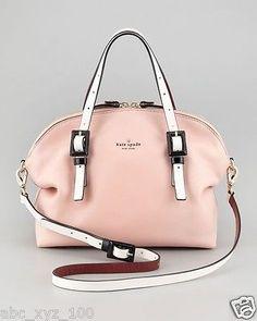 NWT KATE SPADE Pink Champaign Waverly Street Drew Satchel  Handbag