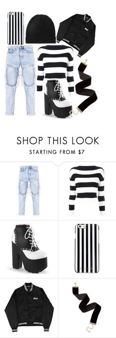 """""""black and white"""" by eline-beekhuis on Polyvore featuring Boutique Moschino, MICHAEL Michael Kors and Madeleine Thompson"""