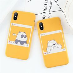 Clear Bear,Panda Phone Silicon case for ,iPhone iPhoneX,iPhone XS Case iPhone XR Case iPhone Plus - Cases - Phone Cases Iphone 8, Coque Iphone, Iphone 6 Plus Case, Iphone Phone Cases, Bff Cases, Couples Phone Cases, Funny Phone Cases, Cute Cases, Korean Phone Cases