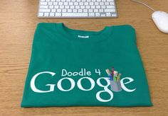 Avery Christiansen got a Doodle 4 Google t-shirt the other day.  I assume she was one of the kids who submitted a nice Doodle to Google.  I dont see on the finalist lists but she did get the t-shirt.