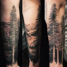 Image result for forest and mountain tattoos