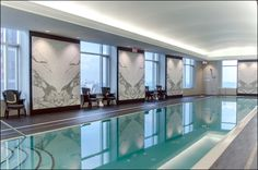 hotel pool Total glamour at the Trump International Hotel Toronto pool. Swiming Pool, Swimming Pools Backyard, Swimming Pool Designs, Spa Jacuzzi, Pool Spa, Piscina Hotel, Piscina Interior, Pool Colors, Pool Furniture