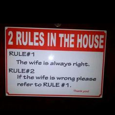 Rules of house