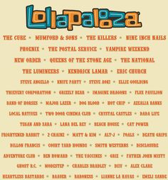 I NEED TO GO.....Lollapalooza 2013