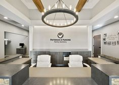 If you noticed the local office dental design and were inspired for your project, you'll want to see the images of Patterson & Parsons Family Dentistry! Dental Office Design, Office Interior Design, Interior Design Services, Office Interiors, Office Designs, Design Interiors, Interior Ideas, Clinic Design, Healthcare Design