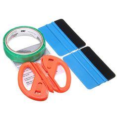 Finish Line Tape & Scraper Board & Cutter Knife Wrapping Tool