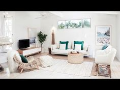 From beach shack to ultimate seaside pad with Three Birds - The Interiors Addict Decor, Room, Room Interior, Living Room Decor, Home Decor, Coastal Living Rooms, Lounge Room, Bedroom Decor, Interior Design