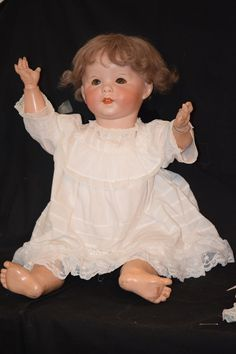Antique Doll French SFBJ 247 Toddler Body Dressed Gorgeous