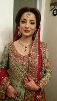 Sarwat Gilani on her wedding. Makeup by Sabs.