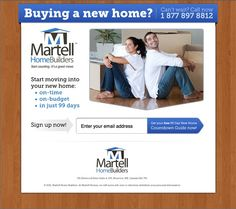 Martell Home Builders Landing Page