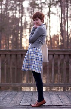 The Clothes Horse has the cutest style! Love this checkered dress from Modcloth. Sexy Librarian, Librarian Style, Girly Outfits, Fashion Outfits, Pixie Outfit, Sartorialist, Boho Look, Retro Chic, Clothes Horse
