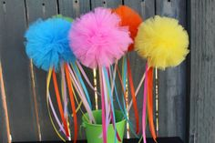 Candyland Birthday Tulle Party Wands with by AnnaMaesCottage, $15.00