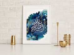 Check out our islamic prints selection for the very best in unique or custom, handmade pieces from our wall décor shops. Islamic Art Canvas, Islamic Paintings, Art Original, Original Paintings, Ramadan, Arabic Calligraphy Art, Calligraphy Print, Lettering Art, Islamic Wall Decor