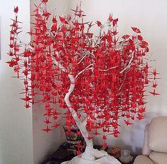 28 Ideas Origami Bird Tree Paper Cranes For 2019 Origami Bird, Origami Animals, Paper Crafts Origami, Origami Easy, Diy Paper, Paper Art, Oragami, 1000 Paper Cranes, 1000 Cranes