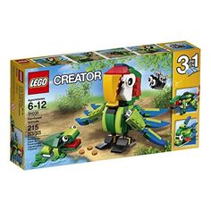 Creator LEGO 215 Pcs 3-in-1 Rainforest Animals Brick Box Building Toys