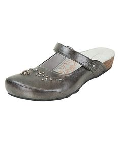 Look at this Aetrex Pewter Amanda Leather Mule on #zulily today!